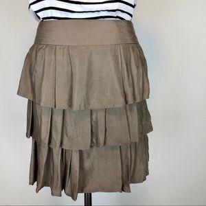 Tiered Pleated Mini Skirt Banana Republic